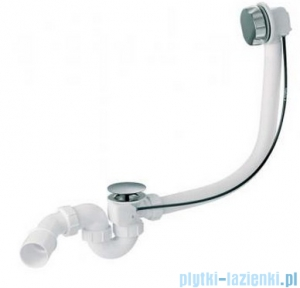 McAlpine syfon wannowy z korkiem automatycznym pokrywa biała HC31M-WH