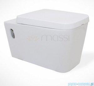 Massi Tringo miska wisząca+deska wolnoopadająca duroplast biała MSM-3073DU