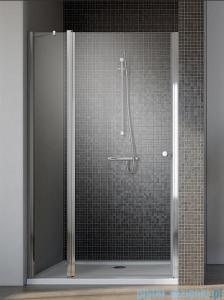 Radaway Eos II DWJ Drzwi prysznicowe 80x195 lewe szkło przejrzyste + brodzik Delos C + syfon 3799440-01L/SDC0808-01