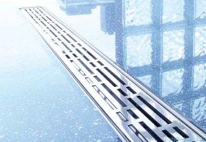 Tece Ruszt prosty Basic ze stali nierdzewnej Tecedrainline 150 cm połysk 6.015.10