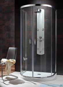 Radaway Premium Plus P Kabina półokrągła 100x90 szkło brązowe + Brodzik Delos P + syfon 33300-01-08N