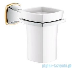 Grohe Grandera uchwyt z kubkiem ceramicznym chrom/złoty 40626IG0