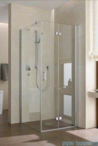 Kermi Diga Drzwi wahadłowo-składane do ściany bocznej, prawe, szkło przezroczyste, profile białe 75x200 DI2SR075202AK