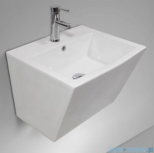 Massi Inglo umywalka wisząca 52x44cm biała MSU-K9389