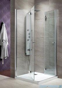 Radaway Eos KDD-B kabina prysznicowa 100x80 szkło przejrzyste + brodzi Doros D + syfon 37333-01-01N/SDRD1080-01