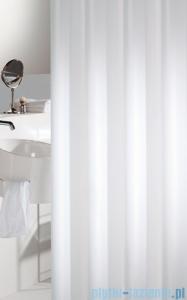 Sealskin Madeira biała zasłona prysznicowa tekstylna 120x200cm 238501110
