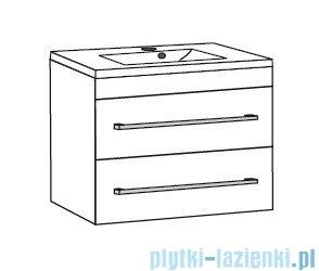 Antado Variete ceramic szafka z umywalką ceramiczną 2 szuflady 62x43x50 czarny połysk FM-AT-442/65/2-9017+UCS-AT-65