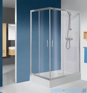 Sanplast TX KN/TX5b kabina prostokątna 80x100x190 cm przejrzysta 600-271-0200-38-401