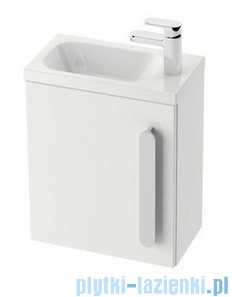 Ravak Drzwi szafki SD 400 Chrome L biały połysk, lewe X000000540