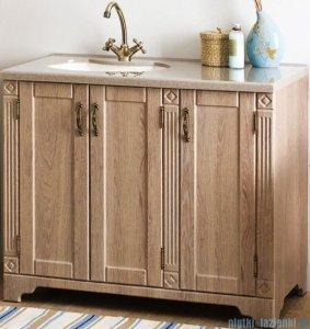 Antado Ritorno szafka modrzew z umywalką i blatem 100x50x81cm VR-240-10-26 + UMB-1004-06