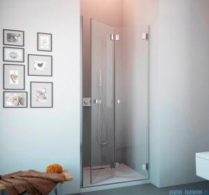 Radaway Carena DWB Drzwi prysznicowe 80 prawe szkło brązowe + brodzik Delos C + Syfon 34512-01-08NR