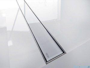 Tece Ruszt prosty ze szkła Tecedrainline 70cm szkło białe 6.007.91