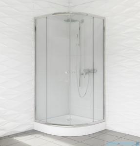 Duso kabina prysznicowa półokrągła 80x80x184cm przejrzyste DS401T