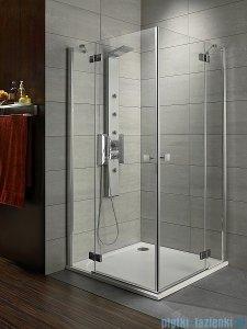 Radaway Kabina prysznicowa Almatea Kdd 80x100 szkło przejrzyste + brodzik Doros D + syfon 32181-01-01N