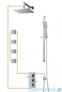 Omnires Fresh kompletny łazienkowy system podtynkowy termostatyczny SYSFR12