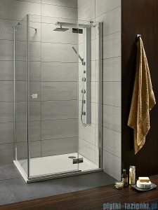 Radaway Kabina prysznicowa Almatea Kdj 90x80 prawa szkło przejrzyste + brodzik Doros D 32148-01-01NR