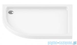 New Trendy Maxima Ultra brodzik asymetryczny posadzkowy na podstawie styropianowej prawy 100x80 B-0147/P