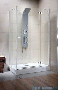 Radaway Kabina prysznicowa Fuenta KDJ 100x100 prawa szkło przejrzyste + Brodzik Argos C + syfon 381051-01R