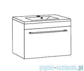 Antado Variete ceramic szafka z umywalką ceramiczną 62x43x40 szary połysk FM-AT-442/65GT-K917+UCS-AT-65