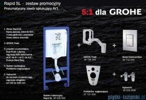 Grohe Zestaw stelaż Rapid Sl Fresh 5w1 Cosmopolitan+miska wisząca Roca Gap+deska wolnoopadająca 38827/A346477000/A80148200U
