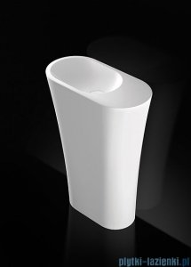 Marmorin umywalka stojąca Wega 600L biała lewa 60x30x85 cm P515060720010