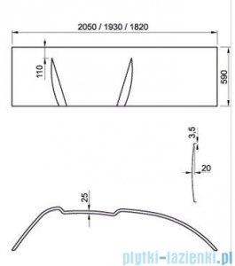 Ravak Panel do wanny Asymmetric 170 L CZ48100000
