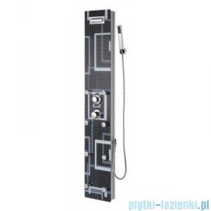Novoterm Kerra Panel natryskowy SOFT LINE aluminium + szkło 150x25 cm