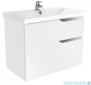 New Trendy Koda szafka wisząca + umywalka 80 cm biały połysk ML-EL280