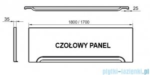 Ravak Przedni panel A 170 do wanien CZ001V0A00