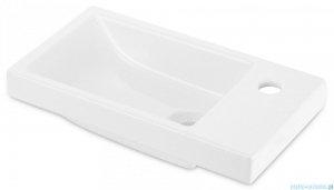 Deante Funkia umywalka wpuszczana w blat 45x25 cm biała CDN 6U4M