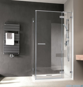 Radaway Euphoria KDJ Kabina prysznicowa 80x80 prawa szkło przejrzyste + brodzik Delos C + syfon 383043-01R/383051-01/SDC0808-01