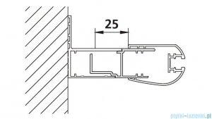 Kermi Atea Przedłużka poszerzająca srebrna 185cm ZDSVSVPAT185VK