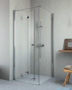 Radaway Essenza New KDJ-B kabina prysznicowa 80x100 lewa przejrzyste + brodzik Doros D + syfon 385081-01-01L/384052-01-01/SDRD1080-01