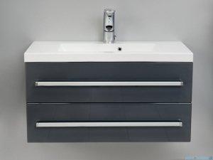 Antado Variete szafka z umywalką, wisząca z dwiema szufladami 80x39x40 szary połysk FM-C-442/8/2GT-K917 + UMMC-800x390