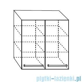 Antado Spektra Szafka wisząca górna 60x20x72 stare drewno FDF-428/50