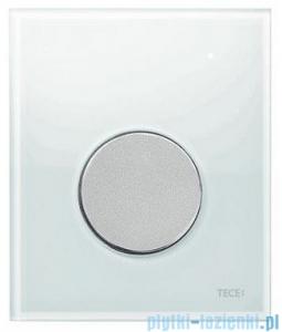 Tece Przycisk spłukujący ze szkła do pisuaru Teceloop szkło białe przycisk chrom matowy 9.242.659