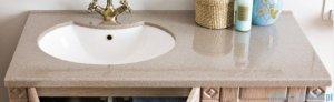 Antado Ritorno umywalka dolomitowa z blatem piaskowym 100x52cm UMB-1004-06