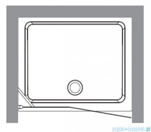 Kerasan Drzwi prysznicowe prawe, szkło dekoracyjne przejrzyste profile złote 92x180 Retro 9139N1