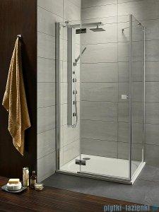Radaway Kabina prysznicowa Almatea KDJ 100x90 lewa szkło grafitowe + brodzik Doros D + syfon 32143-01-05NL