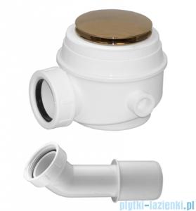 Omnires Syfon złoto brodzikowo-wannowy do brodzików z otworem 50 mm i wanien bez przelewu WB01XZL