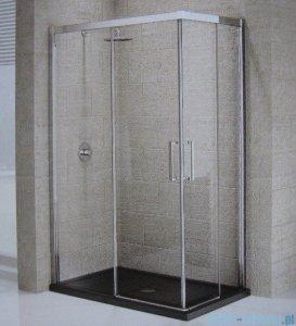 Novellini Elysium Kuadra A Ścianka prysznicowa 78cm lewa szkło przejrzyste profil chrom KUADA78LS-1K