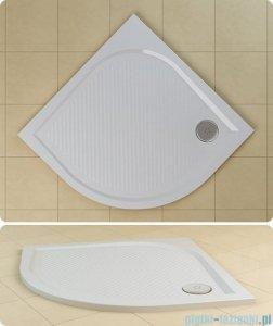 SanSwiss WMR Brodzik półokrągły konglomeratowy 80x80cm biały WMR55080004
