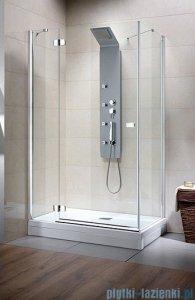 Radaway Kabina prysznicowa Fuenta KDJ 100x100 lewa szkło przejrzyste + Brodzik Argos C + syfon 381051-01L