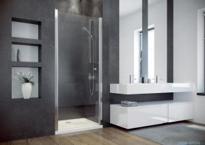Besco Sinco drzwi prysznicowe wahadłowe 90x195 przejrzyste DS-90