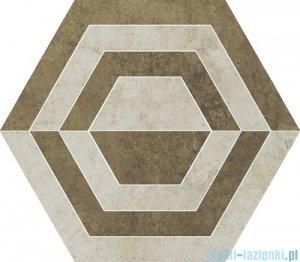 Paradyż Scratch beige A heksagon 26x29,8