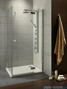 Radaway Kabina prysznicowa Almatea Kdj 90x80 prawa szkło grafitowe + brodzik Doros D 32148-01-05NR