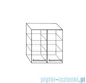 Antado Variete Szafka wisząca 60x20x72 czarny połysk FM-428-9017
