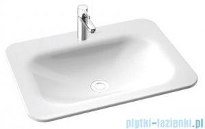 Marmorin Tytan umywalka nablatowa 62x46 bez otworu przelewowego z otworem na baterie biała 586062020011