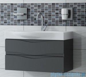 Antado Wave szafka z umywalką 98x37cm grafit mat VA-140/100/2-U164 + UCS-LY-100