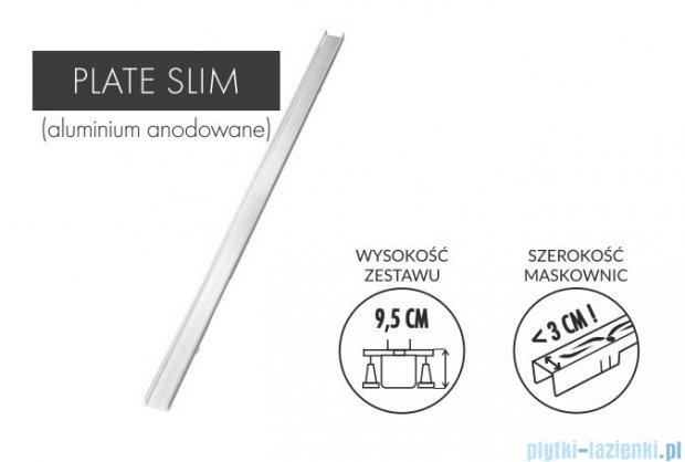 Schedpol Slim Lux odpływ liniowy z maskownicą Plate Slim do zabudowania płytami 60x3,5x9,5cm OLP60/SLX